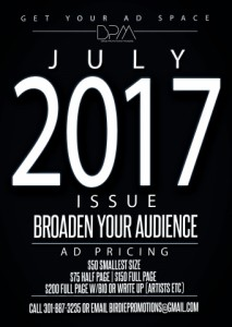 July 2017 Birdie Promotions Magazine Ad Space (Entries due by June 16th)